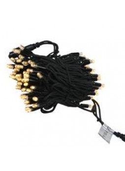 LED Pea Lights 100m (warm white, black cable)